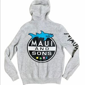 Maui and Sons Shark Attack Hoodie Small